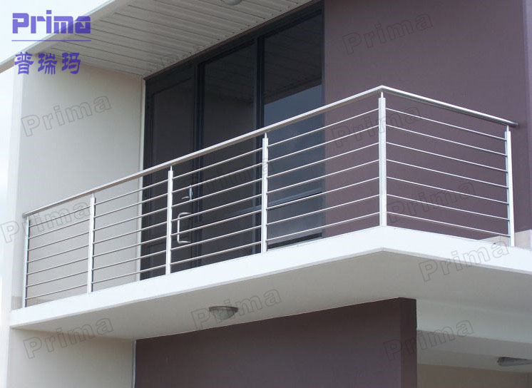 Balcony stainless steel railing design stainless steel for Stainless steel balcony