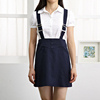 Short sleeve high school uniform shirt with skirt custom made school uniforms
