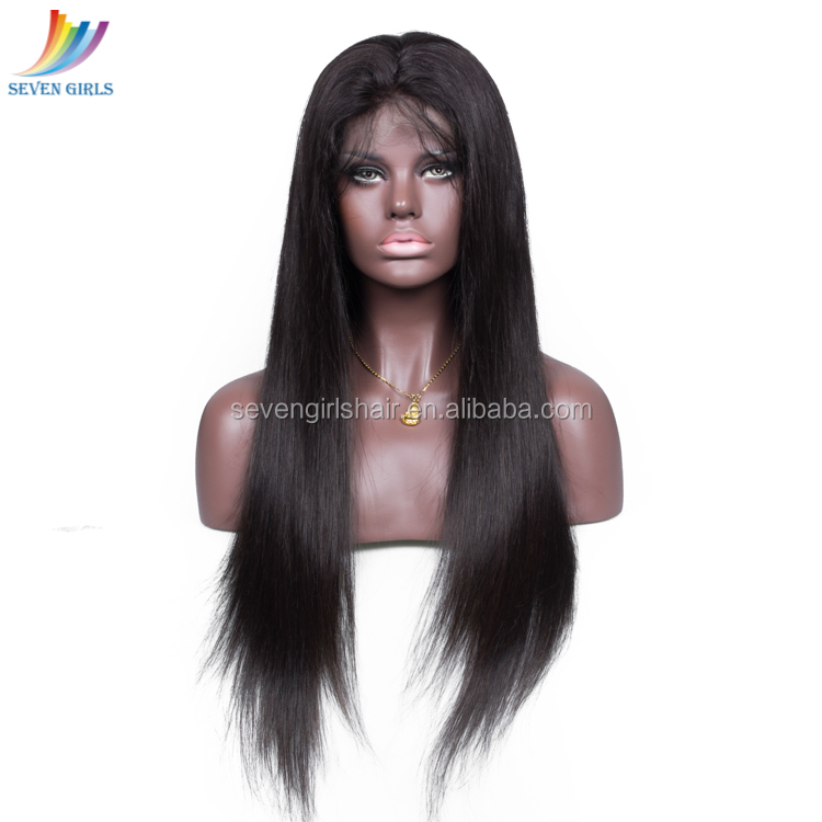 Wholesale 9A Grade Straight Remy Brazilian Human Hair Lace Front Wig For Black Women