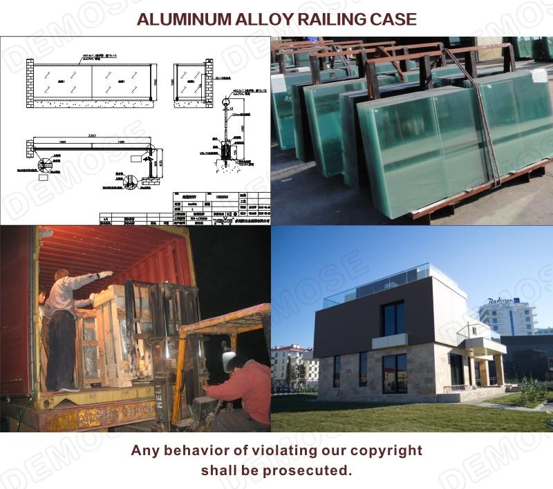 Aluminum U Base Shoe Channel Railings For Outdoor Step