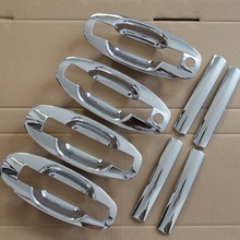 New ABS Chrome Door Handle Covers trim + Cup Bowl For Hyundai Santa Fe 2001 2002 2003 2004 2005 2006 Free Drop Shipping
