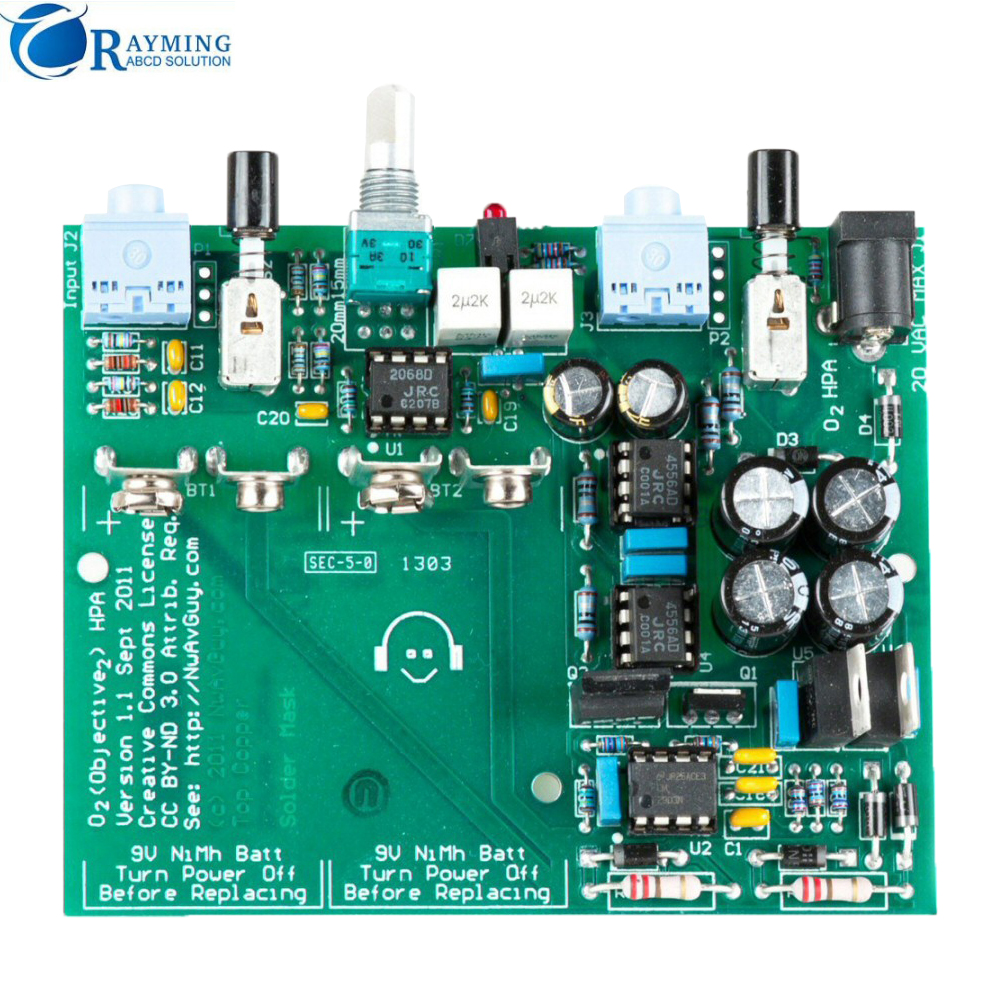 Rayming Blind via Multilayer Lithium electromagnetic flow meter PCB energy meter pcb