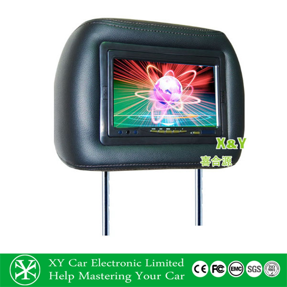 7 inch TFT LCD headrest car monitor car headrest pillow monitor (XY-7020)