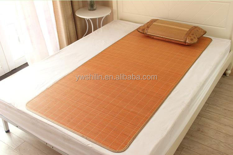 Roll Up Bamboo Bed Mat With Pillow Bamboo Sleeping Mat Bamboo Summer Sleeping Mat Bamboo