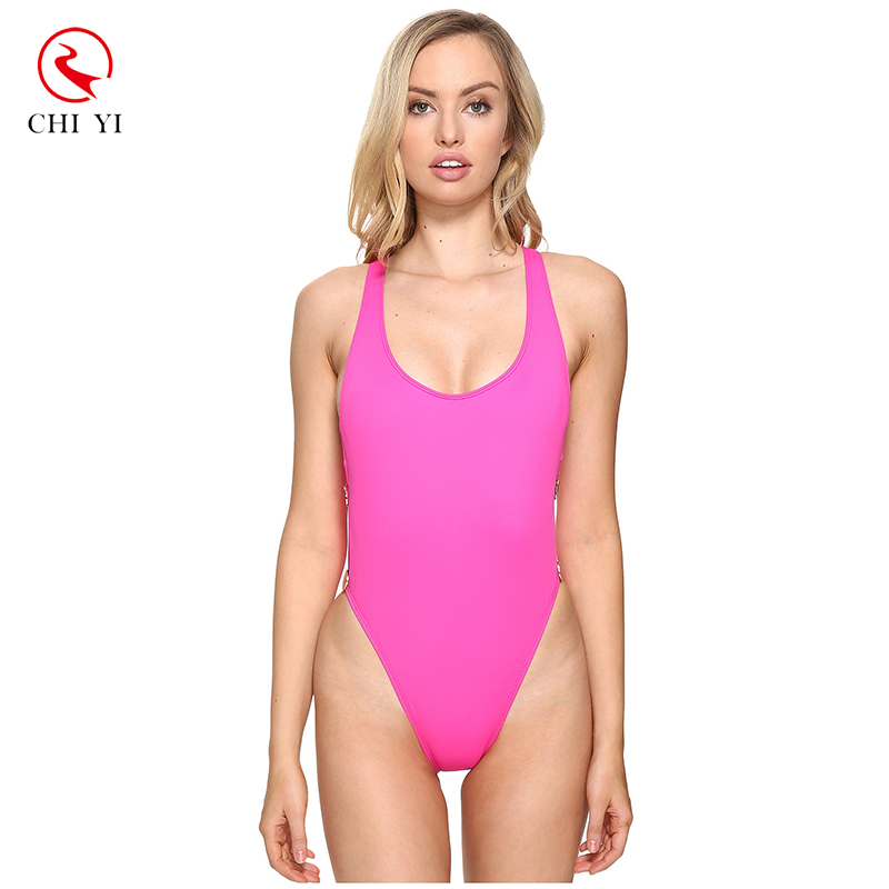 Hot selling girl high cut swimsuit sexy thong bikini one piece