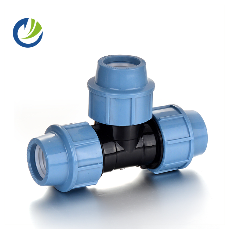 hdpe pp compression <strong>fittings</strong>/italian type taizhou seko reducing tee for water distribution and irrigation pipe <strong>fittings</strong>