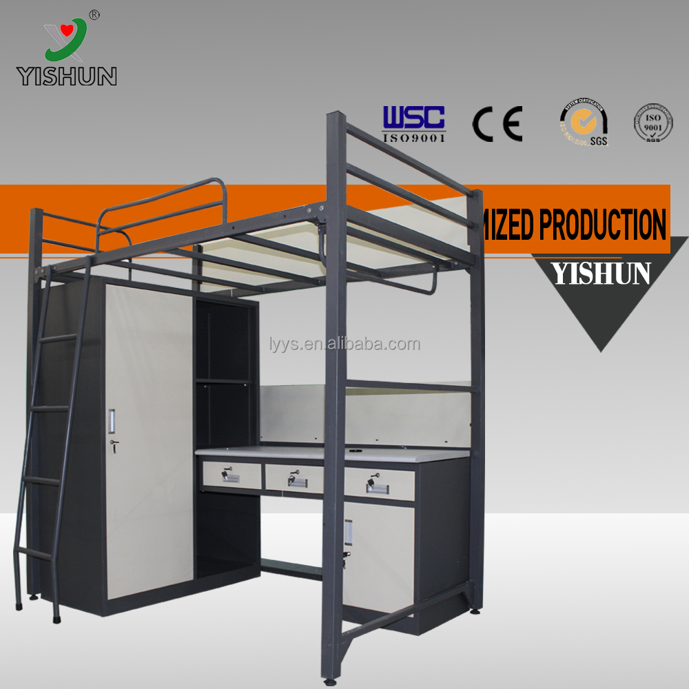 College SCHOOL FURNITURE Dormitory Student Double Deck Bed/With Two Drawer Metal Bunk Bed/Student bunk bed