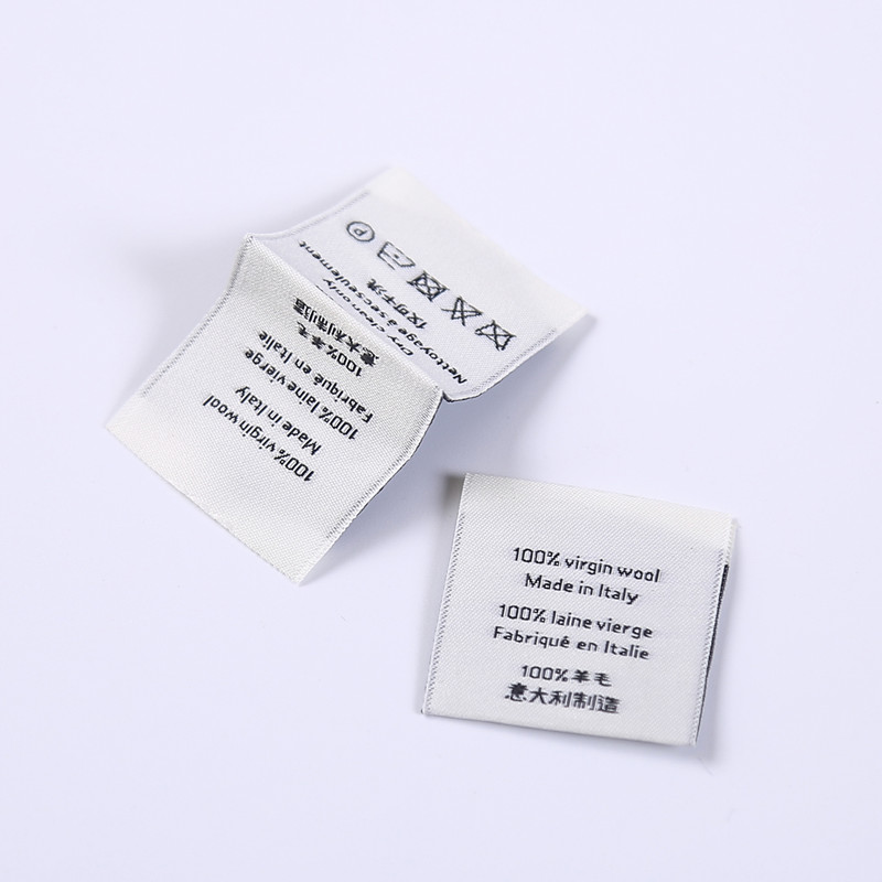 Hot Selling Factory Price satin woven label, high density woven brand label
