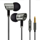 Earphone for tour guide deep bass stereo wired metal earphone with mic silicon case with earphone holder