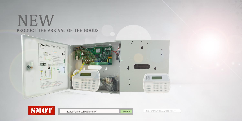 2018 Smqt 16 Wired & 30 Wireless Zones Metal Box Pstn Gsm Tcp/ip ...