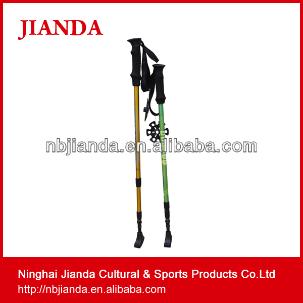 Ninghai janda outdoor Good Quality Alpenstock wholesale folding aluminum Walking Stick