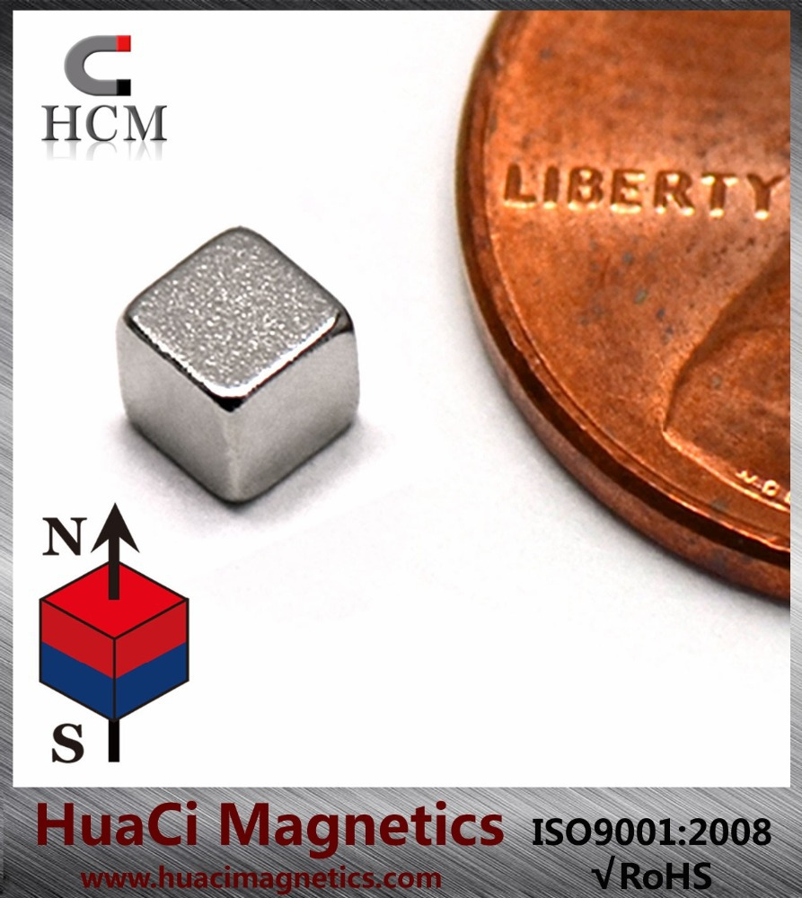 "125 PC N45 Neodymium Magnets 1/8"" Cube Rare Earth NdFeB Magnets"