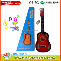 Good quaility wooden toy 63cm wooden guitar kids musical instrument