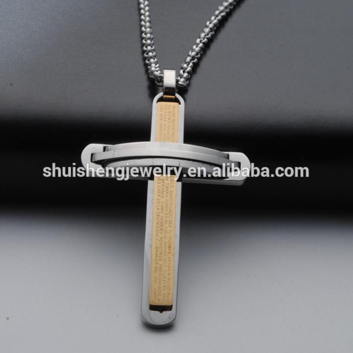 stainless steel bible marking gold baseball bat cross