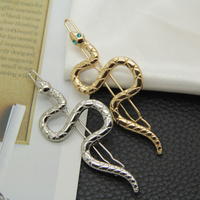 Simple style fashion hair decoration fun hollow snake hairpin hairpin word girl hairpin