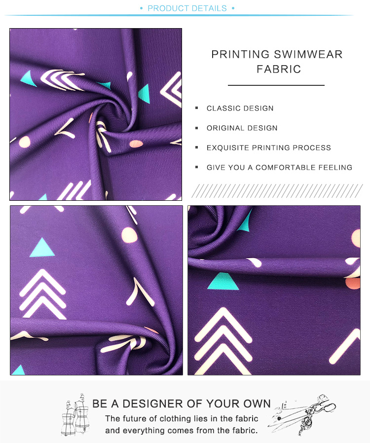 Arbitrarily Cut Spandex Polyamide Fabric For Swimwear