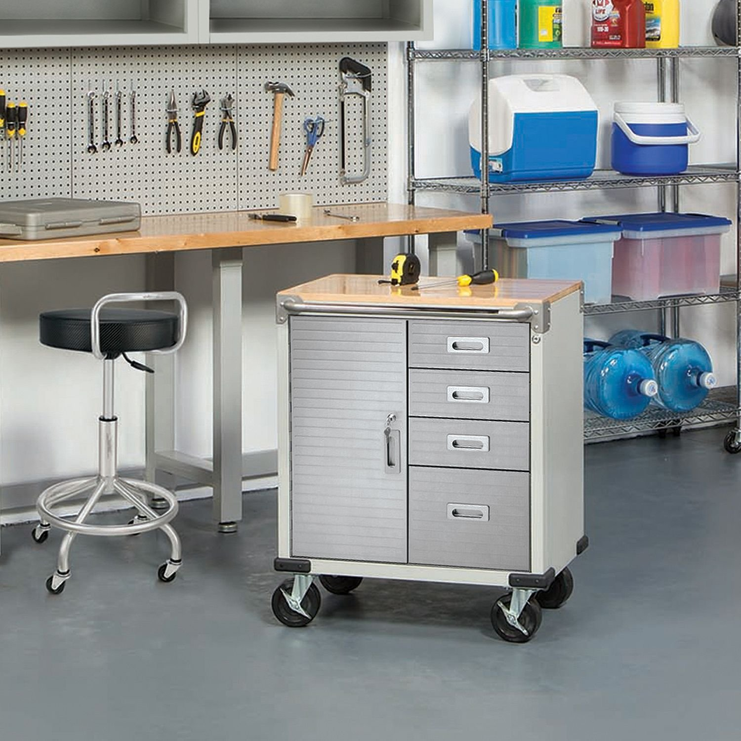 Get Quotations Most Por Super Heavy Duty Stainless Steel 5 Drawer Powder Coated Rust Resistant Rolling Storage Work