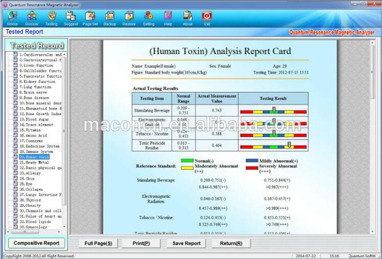 gratis verzending quantum analyzers handheld producten voor de gezondheidszorg body scanner