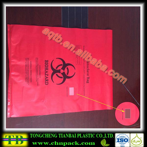 Sterilization Indicator Biohazard Autoclave Bag For Hospital