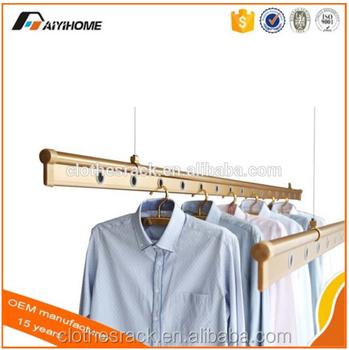 Balkon Decke Montiert Hand Betrieben Hebe Kleidung Kleiderbügel ...