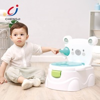 New style cute design infant portable training toilet seat musical baby potty