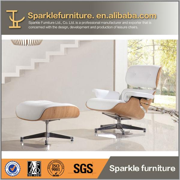 Muebles de cuero Charles eames lounge chair con otomana-Sillas para ...