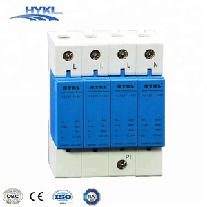 HYKL lightning protection surge suppressor dc power surge protector spd 40ka three phase surge protective device SPD