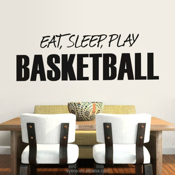 Inspirational Wall Decor Dining Room Wall Stickers Art Vinyl Quotes Eat  Sleep Play Basketball Letters Kitchen Wall Decor - Buy Kitchen Wall ...