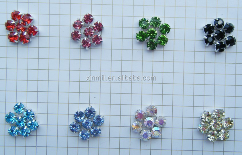 ss20 5mm colorful sew on beads round pointback rhinestones trim +silver metal brass claw 4mm crystal sew on stones for clothes