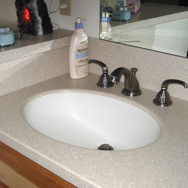 Bathroom countertops with built