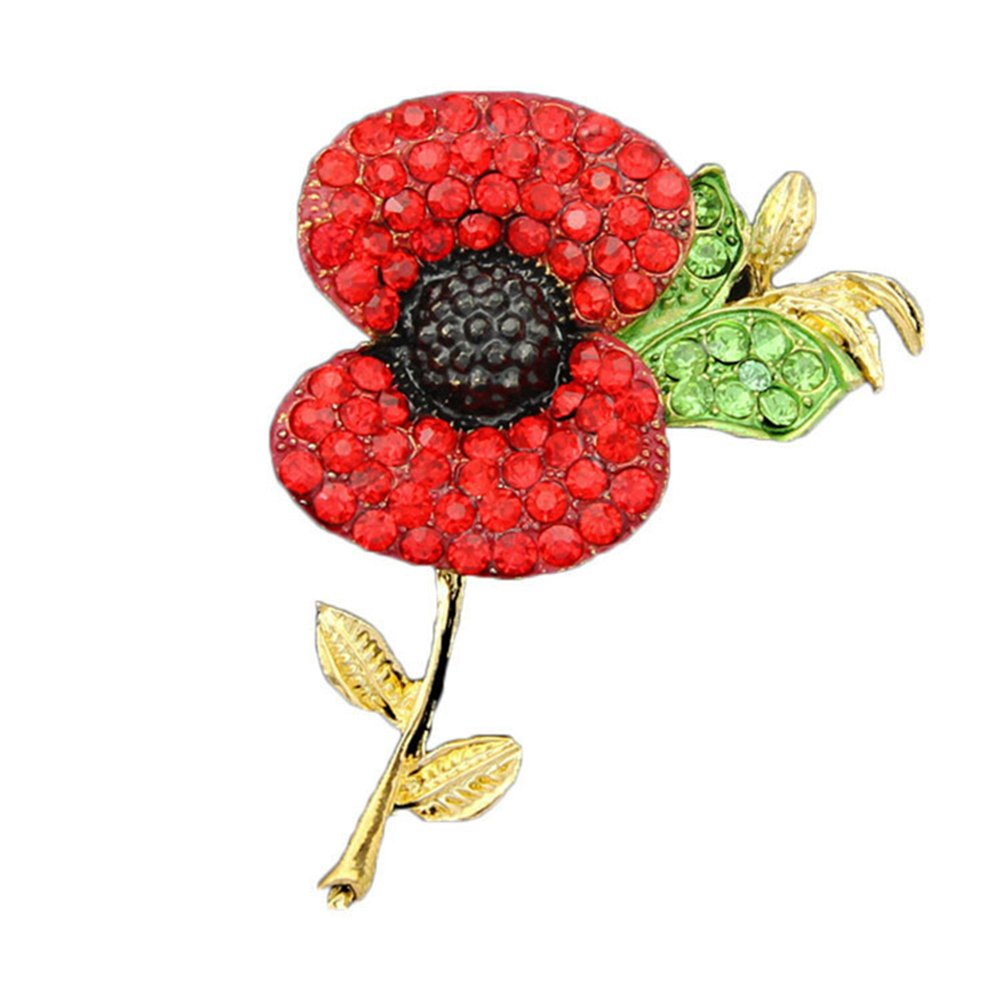 Buy Red Poppy Flower Pin Lapel Badge Banquet Enamel Remembrance