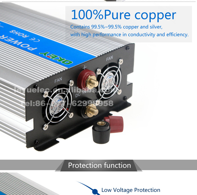 OKEY OPIP-1500-1 Pure Sine Wave CE ROHS Inverter 1500W 3000W 24VDC 120VAC Off Grid System
