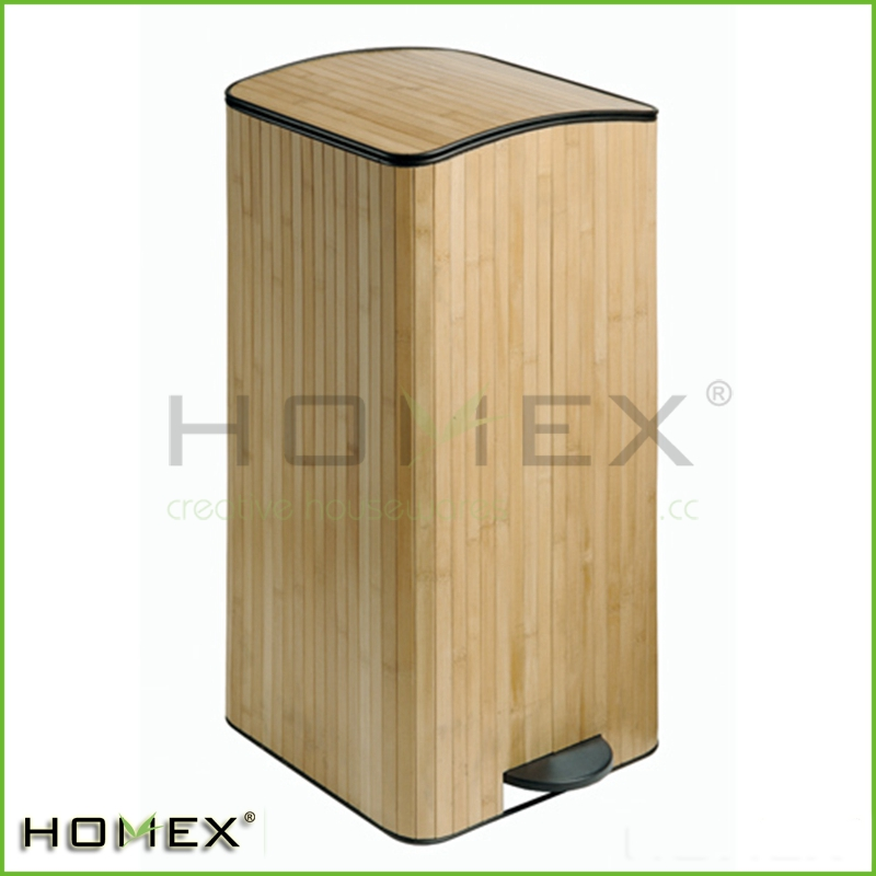 Bamboo Rectangle Shape Trash Can Trash Box Holder/Homex_Factory