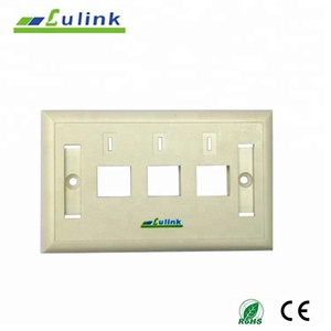 Metal Keystone 3 port rj45 wall plate