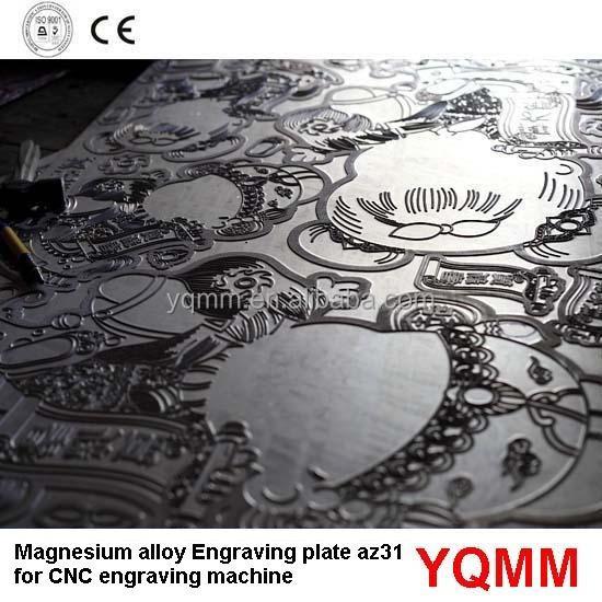 Magnesium Alloy carving Etching plate az31b