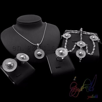 Snowflake Necklace Earrings Jewelry Set Bulk Costume Jewellery Sets