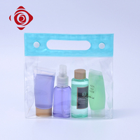 Wholesale travel toiletry bag plastic air conditioner cosmetic wash bag