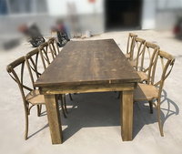 Wholesale price factory direct solid wood dinning harvest farm table