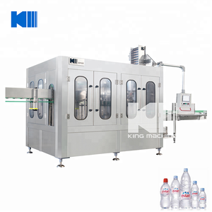 King Machine complete line rotary type 3 in 1 multi head filling machine