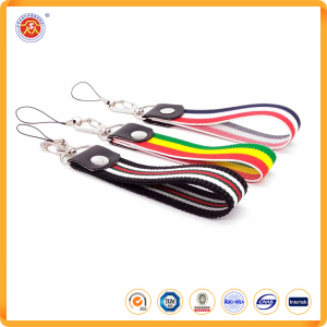 High quality elastic band custom 2.5cm * 20cm hand wrist strap lanyard for polyester