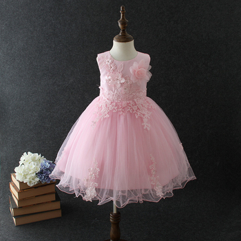 a421d64571e Baby 2018 New Model Cotton Frock Designs Summer Princess Sleeveless Big  Hand Made Flower Pink Girls Birthday Party Dress - Buy Birthday Dress For  Baby ...