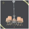 Antique Style Classical Fabric Pendant Lamp Metal Art Lamp, Retro Hanging Light