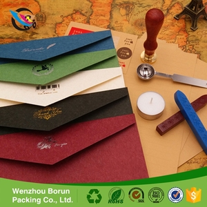 Factory wholesale custom small fine colorful kraft paper envelope