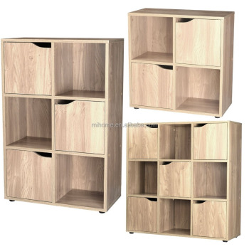 Sonoma Oak 4 6 9 Wooden Cube Storage Unit Display Shelves Cupboard Doors  Bookcase Shelving