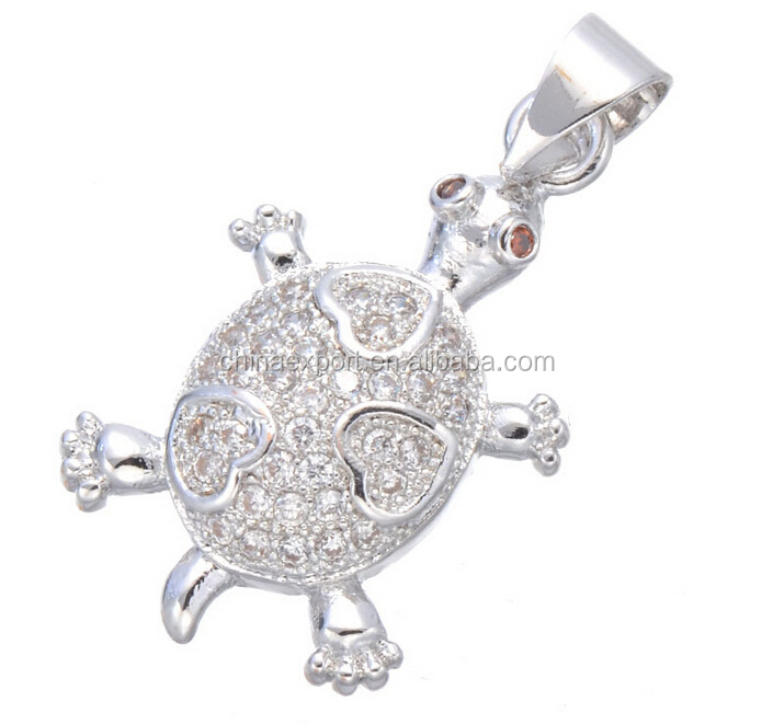 Jewelry Wholesale China Heart Sea Turtle Shape Charms For Necklace