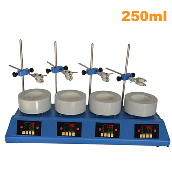 250ml 4 rows heating mantle with magnetic stirrer .