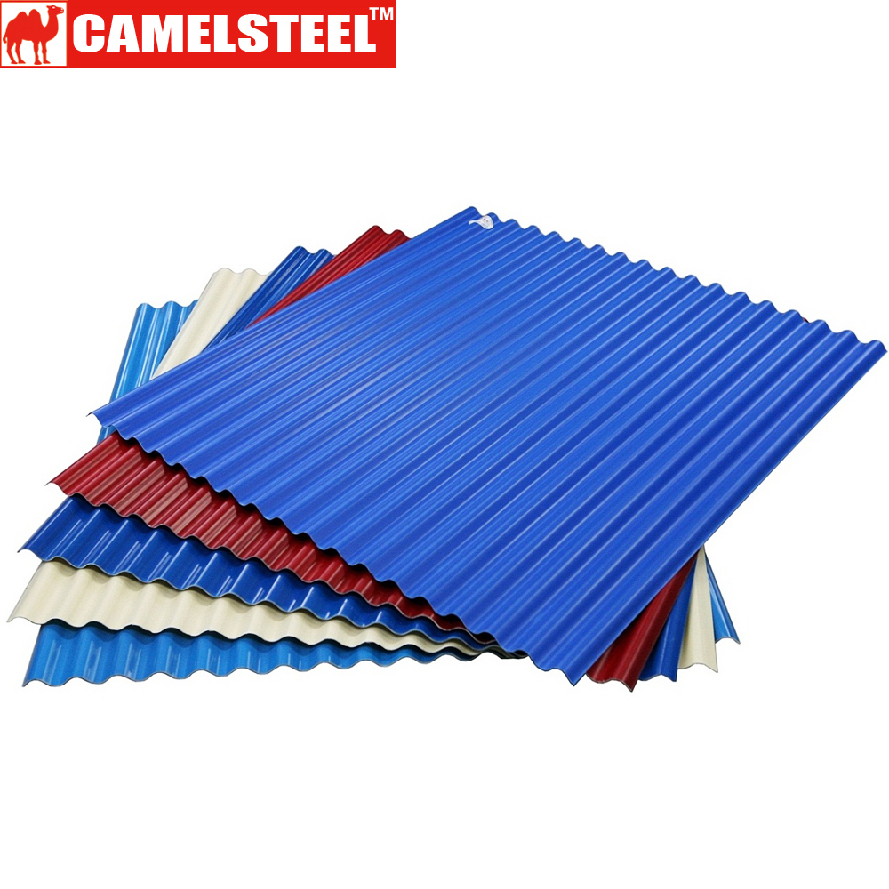 roofing material prepainted galvanized steel color coated corrugated roof metal sheets
