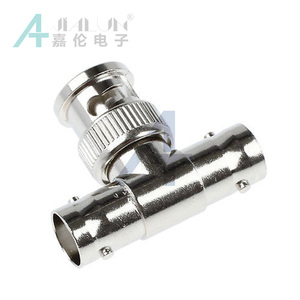 JIALUN BNC Male to Double BNC Female Tee RF Connector/Adapter