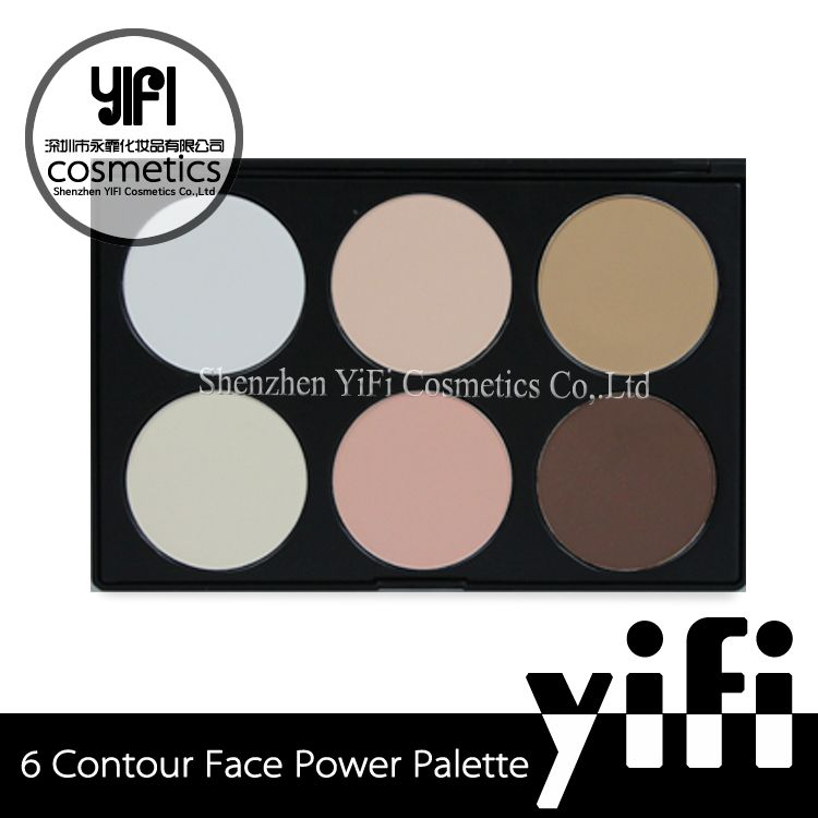Private label cosmetics korean cosmetics brands face foundation makeup 6 colors contour palette