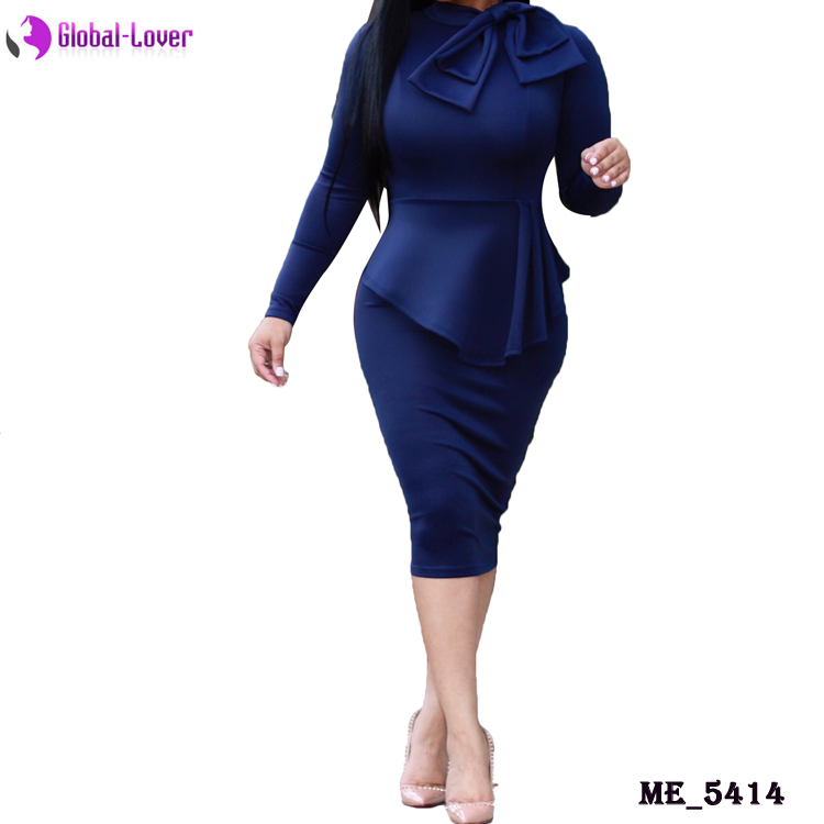 Wholesale slim fit women's career dress formal office dresses for women